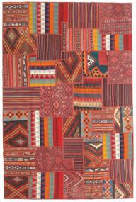 Tekkeh Kelim Matto 199X301 Moderni Käsinkudottu Tummanpunainen/Ruoste (Villa, Persia/Iran)