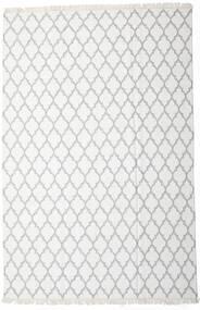 Bamboo Silkki Kelim Matto 200X300 Moderni Käsinkudottu Valkoinen/Creme/Beige/Vaaleanharmaa (Villa/Bambu Silkki, Intia)
