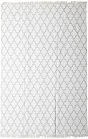 Bamboo Silkki Kelim Matto 200X300 Moderni Käsinkudottu Valkoinen/Creme/Vaaleanharmaa (Villa/Bambu Silkki, Intia)