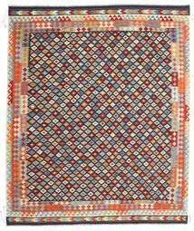 Kelim Afghan Old Style Matto 253X297 Itämainen Käsinkudottu Tummanharmaa/Beige Isot (Villa, Afganistan)