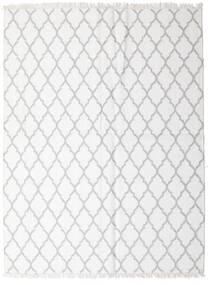 Bamboo Silkki Kelim Matto 170X220 Moderni Käsinkudottu Valkoinen/Creme/Vaaleanharmaa (Villa/Bambu Silkki, Intia)