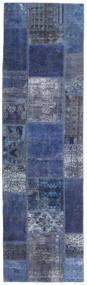 Patchwork - Persien/Iran Matto 73X253 Moderni Käsinsolmittu Käytävämatto Tummansininen/Vaaleanvioletti (Villa, Persia/Iran)