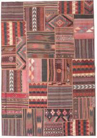 Tekkeh Kelim Matto 161X231 Moderni Käsinkudottu Tummanpunainen/Tummanharmaa (Villa, Persia/Iran)