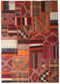 Tekkeh Kelim Matto 162X231 Moderni Käsinkudottu Tummanpunainen/Tummanruskea (Villa, Persia/Iran)
