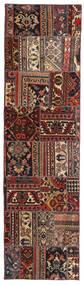 Patchwork - Persien/Iran Matto 70X258 Moderni Käsinsolmittu Käytävämatto Tummanpunainen/Musta (Villa, Persia/Iran)