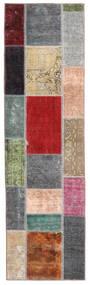 Patchwork - Persien/Iran Matto 71X252 Moderni Käsinsolmittu Käytävämatto Tummanruskea/Sininen (Villa, Persia/Iran)