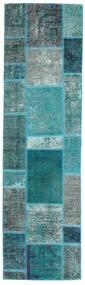 Patchwork - Persien/Iran Matto 70X249 Moderni Käsinsolmittu Käytävämatto Tumma Turkoosi/Siniturkoosi (Villa, Persia/Iran)