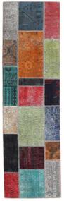 Patchwork - Persien/Iran Matto 73X253 Moderni Käsinsolmittu Käytävämatto Tummanharmaa/Sininen (Villa, Persia/Iran)
