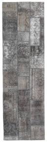 Patchwork - Persien/Iran Matto 76X253 Moderni Käsinsolmittu Käytävämatto Vaaleanharmaa/Tummanharmaa (Villa, Persia/Iran)