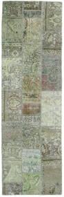 Patchwork - Persien/Iran Matto 77X251 Moderni Käsinsolmittu Käytävämatto Tummanharmaa/Vaaleanvihreä (Villa, Persia/Iran)