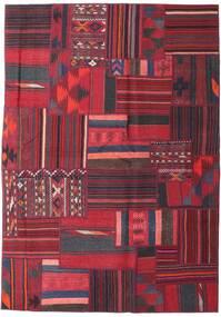 Tekkeh Kelim Matto 160X228 Moderni Käsinkudottu Tummanpunainen/Punainen (Villa, Persia/Iran)