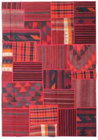 Tekkeh Kelim Matto 162X230 Moderni Käsinkudottu Punainen/Tummanvioletti (Villa, Persia/Iran)