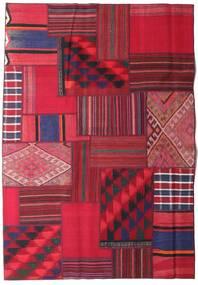Tekkeh Kelim Matto 161X231 Moderni Käsinkudottu Punainen/Tummanpunainen (Villa, Persia/Iran)
