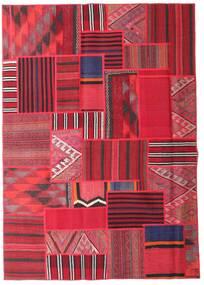 Tekkeh Kelim Matto 161X228 Moderni Käsinkudottu Punainen/Pinkki (Villa, Persia/Iran)