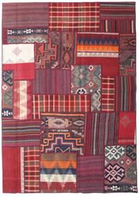 Tekkeh Kelim Matto 160X228 Moderni Käsinkudottu Tummanvioletti/Tummanpunainen (Villa, Persia/Iran)