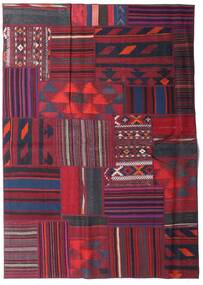 Tekkeh Kelim Matto 161X228 Moderni Käsinkudottu Tummanpunainen/Tummansininen (Villa, Persia/Iran)