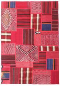 Tekkeh Kelim Matto 161X231 Moderni Käsinkudottu Punainen/Pinkki (Villa, Persia/Iran)