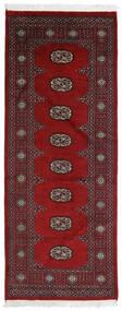 Pakistan Bokhara 2Ply Matto 75X191 Itämainen Käsinsolmittu Käytävämatto Tummanpunainen/Tummanruskea (Villa, Pakistan)