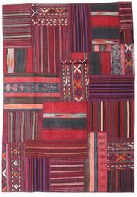 Tekkeh Kelim Matto 159X229 Moderni Käsinkudottu Tummanvioletti/Tummanpunainen (Villa, Persia/Iran)
