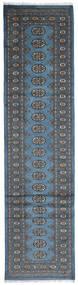 Pakistan Bokhara 2Ply Matto 79X307 Itämainen Käsinsolmittu Käytävämatto Sininen/Tummanharmaa (Villa, Pakistan)