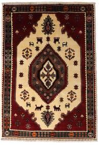 Ghashghai Matto 127X183 Itämainen Käsinsolmittu Tummanruskea/Tummanbeige (Villa, Persia/Iran)