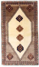 Ghashghai Matto 128X224 Itämainen Käsinsolmittu Beige/Tummanruskea (Villa, Persia/Iran)