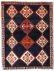 Ghashghai Matto 150X192 Itämainen Käsinsolmittu Tummanvioletti/Tummanpunainen (Villa, Persia/Iran)