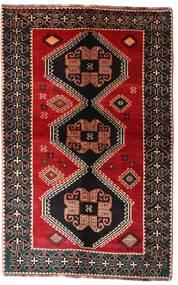 Shiraz Matto 148X234 Itämainen Käsinsolmittu Tummanruskea/Tummanpunainen (Villa, Persia/Iran)