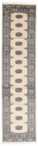 Pakistan Bokhara 2Ply Matto 80X317 Itämainen Käsinsolmittu Käytävämatto Beige/Vaaleanharmaa/Tummanharmaa (Villa, Pakistan)