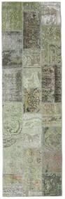 Patchwork - Persien/Iran Matto 76X253 Moderni Käsinsolmittu Käytävämatto Tummanharmaa/Vaaleanharmaa (Villa, Persia/Iran)