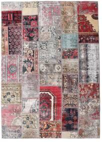 Patchwork - Persien/Iran Matto 172X242 Moderni Käsinsolmittu Vaaleanharmaa/Vaaleanpunainen (Villa, Persia/Iran)