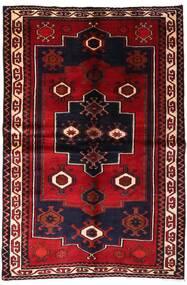 Lori Matto 155X231 Itämainen Käsinsolmittu Tummanpunainen (Villa, Persia/Iran)