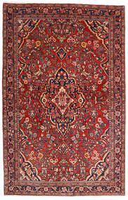 Sarough Sherkat Farsh Matto 132X208 Itämainen Käsinsolmittu Tummanpunainen/Tummanruskea (Villa, Persia/Iran)