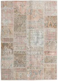 Patchwork - Persien/Iran Matto 141X200 Moderni Käsinsolmittu Vaaleanharmaa/Vaaleanruskea (Villa, Persia/Iran)