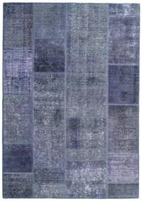 Patchwork - Persien/Iran Matto 140X200 Moderni Käsinsolmittu Vaaleanvioletti/Sininen (Villa, Persia/Iran)