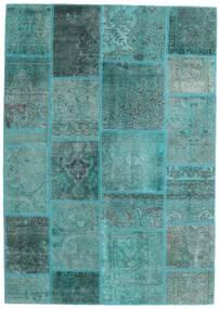 Patchwork - Persien/Iran Matto 140X200 Moderni Käsinsolmittu Siniturkoosi/Siniturkoosi (Villa, Persia/Iran)