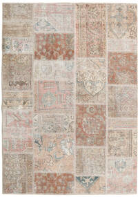 Patchwork - Persien/Iran Matto 142X202 Moderni Käsinsolmittu Vaaleanharmaa/Valkoinen/Creme (Villa, Persia/Iran)