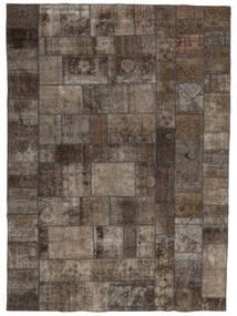 Patchwork - Persien/Iran Matto 252X352 Moderni Käsinsolmittu Vaaleanharmaa/Tummanharmaa/Tummanruskea Isot (Villa, Persia/Iran)