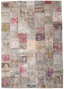 Patchwork - Persien/Iran Matto 248X352 Moderni Käsinsolmittu Vaaleanharmaa/Pinkki (Villa, Persia/Iran)