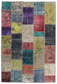 Patchwork - Persien/Iran Matto 135X201 Moderni Käsinsolmittu Tummanharmaa/Vaaleanharmaa (Villa, Persia/Iran)