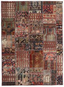 Patchwork - Persien/Iran Matto 144X201 Moderni Käsinsolmittu Tummanpunainen/Tummanruskea/Vaaleanruskea (Villa, Persia/Iran)