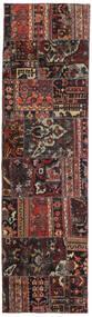 Patchwork - Persien/Iran Matto 72X256 Moderni Käsinsolmittu Käytävämatto Musta/Tummanpunainen (Villa, Persia/Iran)