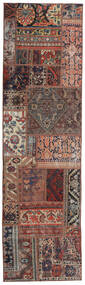 Patchwork - Persien/Iran Matto 68X246 Moderni Käsinsolmittu Käytävämatto Tummanpunainen/Tummanruskea (Villa, Persia/Iran)