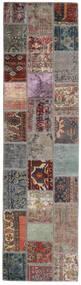 Patchwork - Persien/Iran Matto 82X303 Moderni Käsinsolmittu Käytävämatto Vaaleanharmaa/Musta (Villa, Persia/Iran)