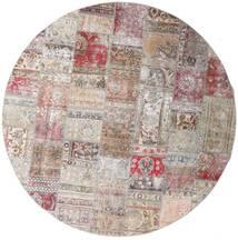 Patchwork - Persien/Iran Matto Ø 250 Moderni Käsinkudottu Pyöreä Vaaleanharmaa/Vaaleanvioletti Isot (Villa, Persia/Iran)
