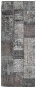 Patchwork - Persien/Iran Matto 77X198 Moderni Käsinsolmittu Käytävämatto Tummanharmaa/Vaaleanharmaa (Villa, Persia/Iran)