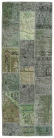 Patchwork - Persien/Iran Matto 76X201 Moderni Käsinsolmittu Käytävämatto Tummanvihreä/Oliivinvihreä (Villa, Persia/Iran)