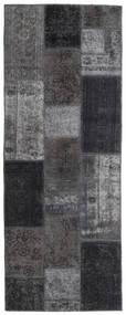 Patchwork - Persien/Iran Matto 77X202 Moderni Käsinsolmittu Käytävämatto Tummanharmaa/Vaaleanharmaa (Villa, Persia/Iran)
