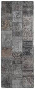 Patchwork - Persien/Iran Matto 75X201 Moderni Käsinsolmittu Käytävämatto Tummanharmaa/Vaaleanharmaa (Villa, Persia/Iran)