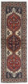 Ardebil Matto 64X201 Itämainen Käsinsolmittu Käytävämatto Tummanpunainen/Musta (Villa, Persia/Iran)